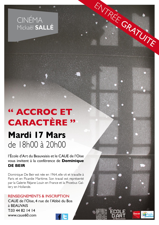 """Frances Beir for conférence """"accroc et caractère"""" par dominique de beir   caue 60"""